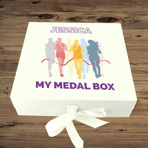 Medal Box Running Girl