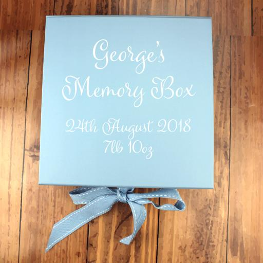 Baby Blue Memory Box