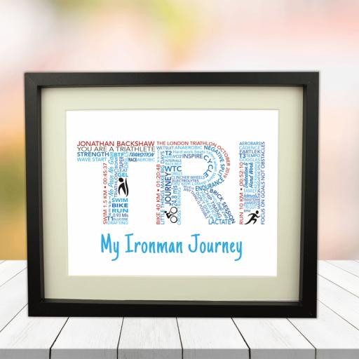Ironman Word Art Picture 10 x 8