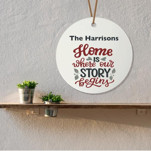 Home Story Ceramic Plaque