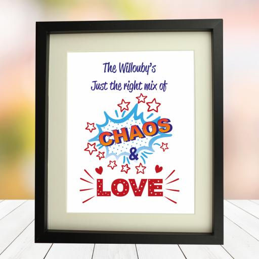 Family Chaos 10 x 8 Framed Picture
