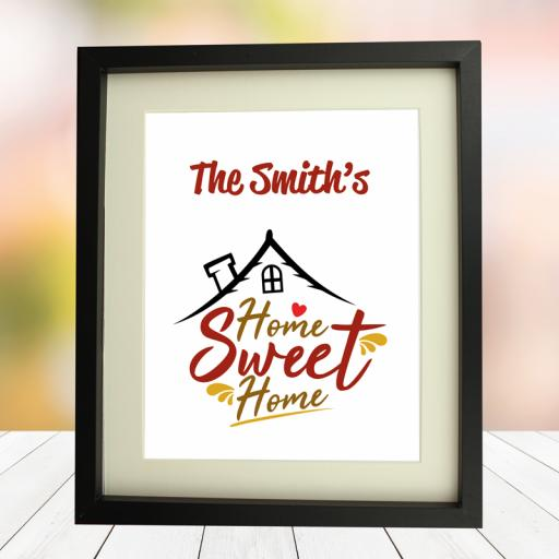 Home Sweet Home 10 x 8 Framed Picture