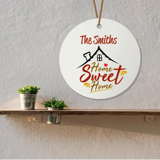 Home Sweet Home Ceramic Plaque