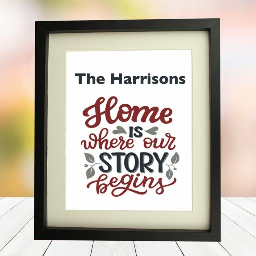 Home Story 10 x 8 Framed Picture