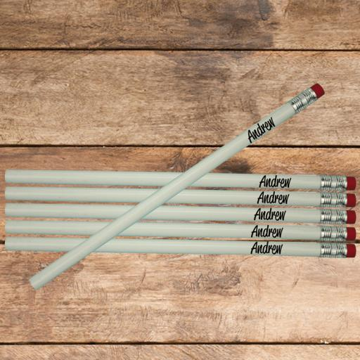 6 Wooden Pencils Personalised