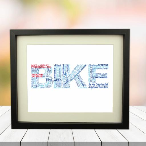 Bike Event Word Art Picture 10 x 8