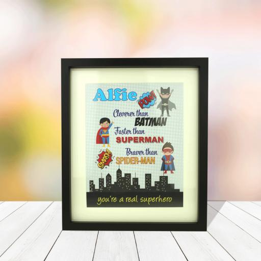 Superhero 10 x 8 Framed Picture