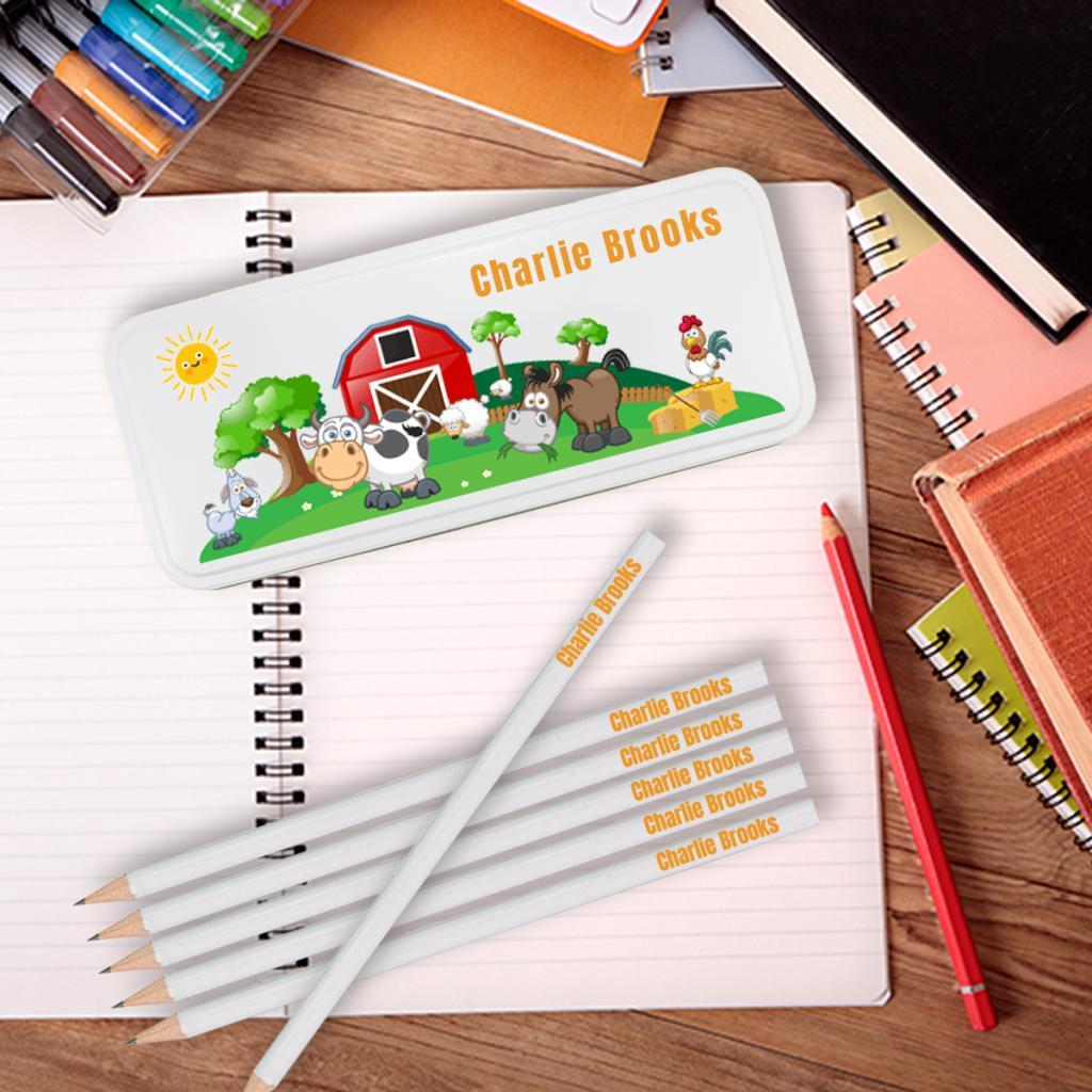 Farm Personalised Pencil Tin