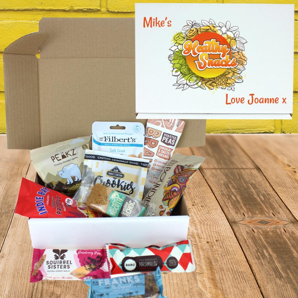 Healthy Alternative Bumper Snack Box Personalised Gift