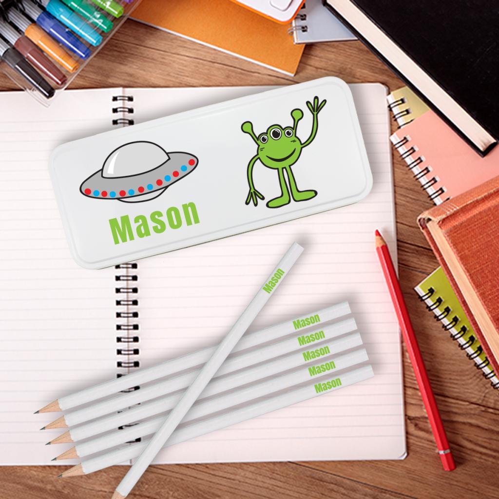Alien Personalised Pencil Tin