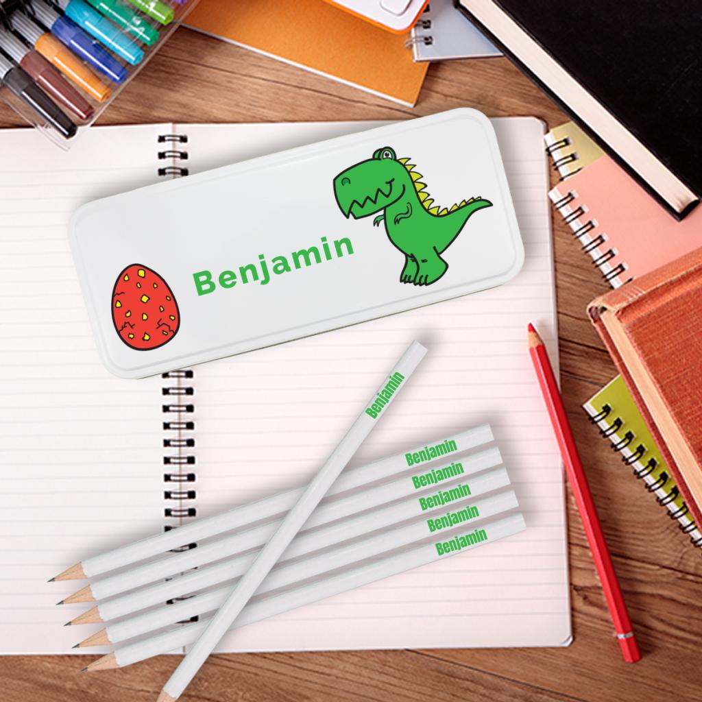 Dinosaur Personalised Pencil Tin