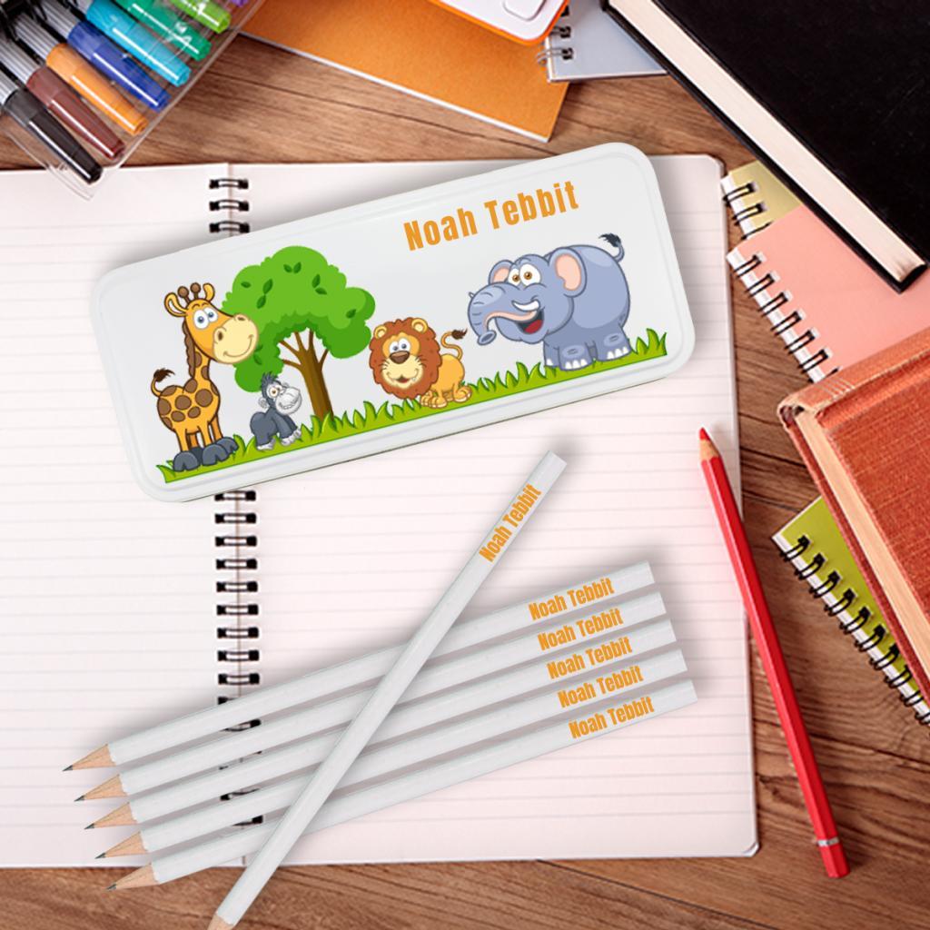 Jungle Personalised Pencil Tin