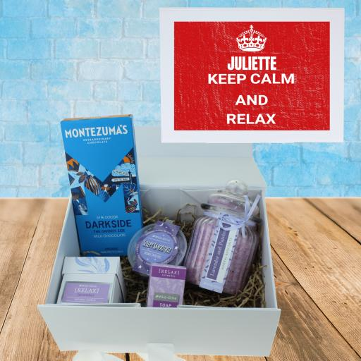 Keep Calm & Relax Red Gift Box