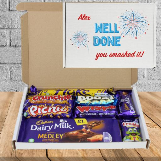 Well Done Personalised Chocolate Box, send to someone who deserves it!