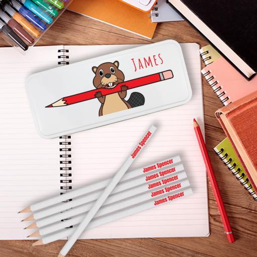 Pencil Tin Beaver