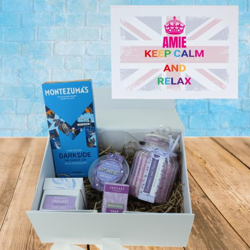 Keep Calm & Relax Union Jack Gift Box