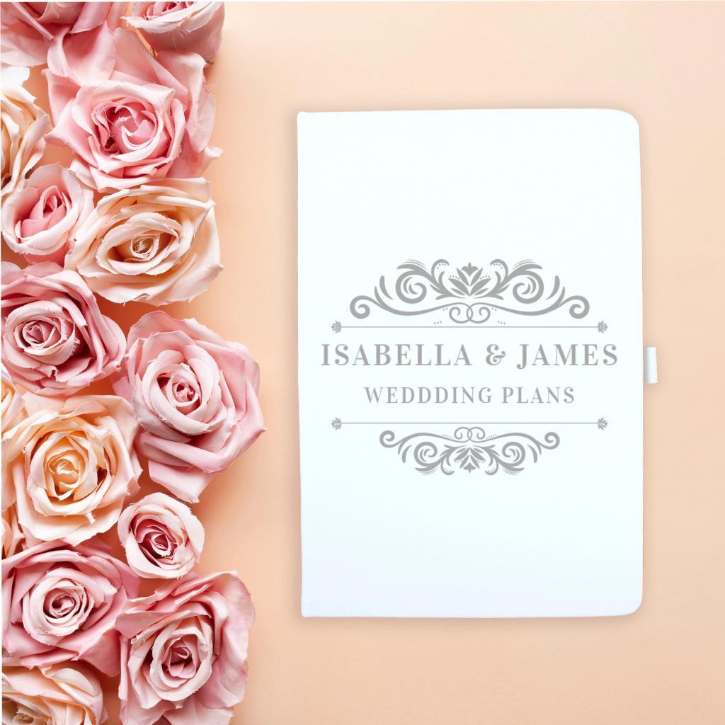 Silver Crest Wedding Planner Notebook