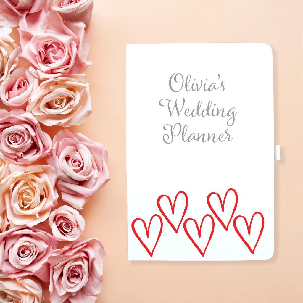 Wedding Planner Red Hearts Notebook