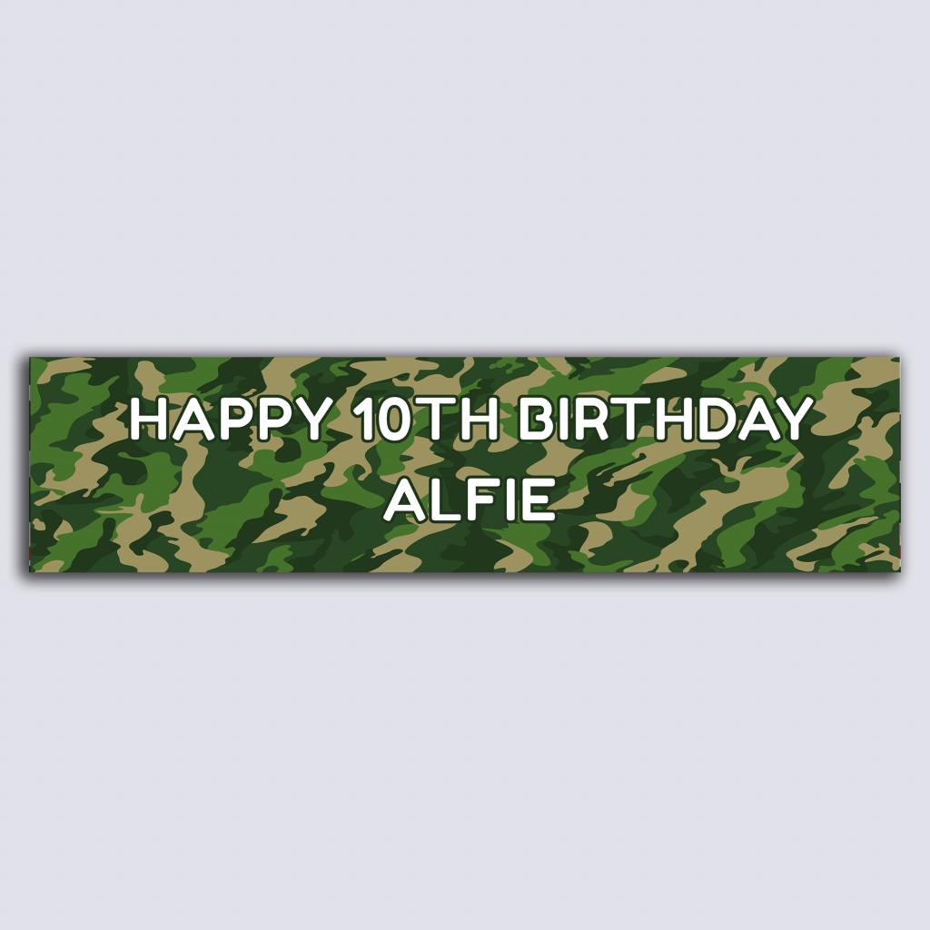 Personalised Banner - Camouflage