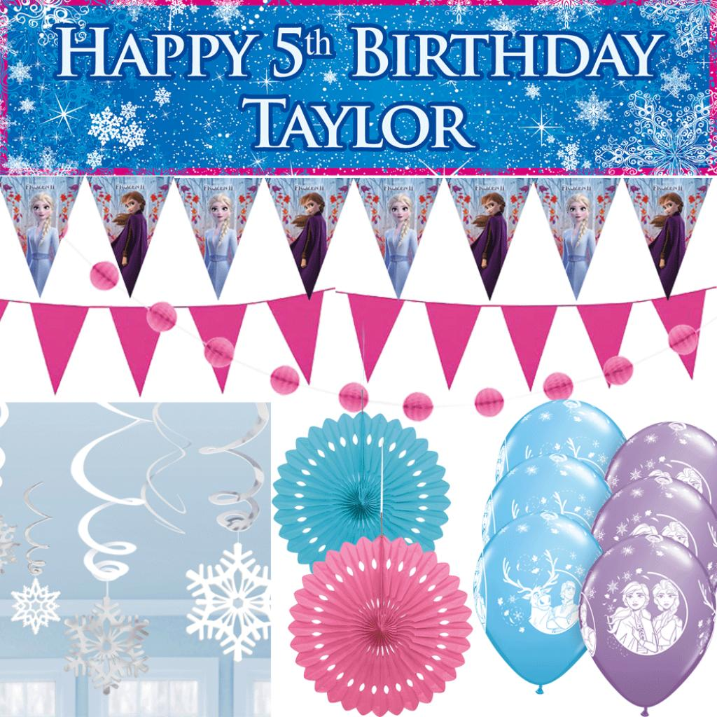 Personalised Party At Home Kit - Frozen