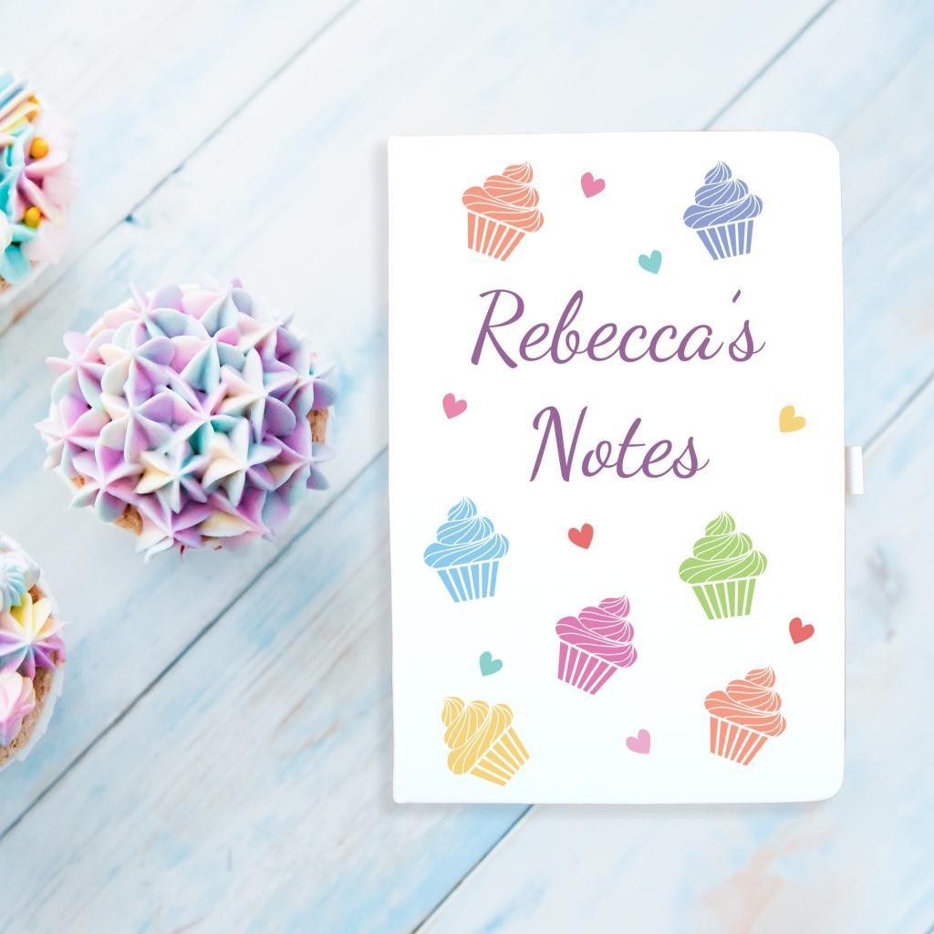 Cupcake & Hearts Notebook