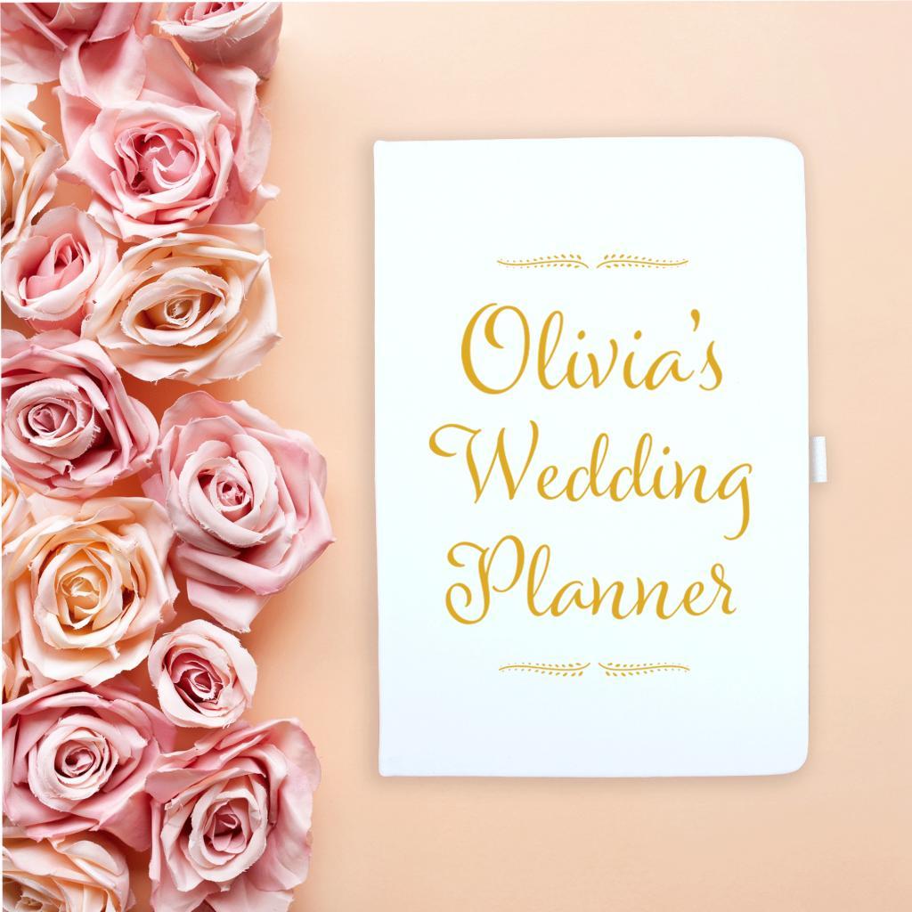 Gold Wedding Planner Notebook
