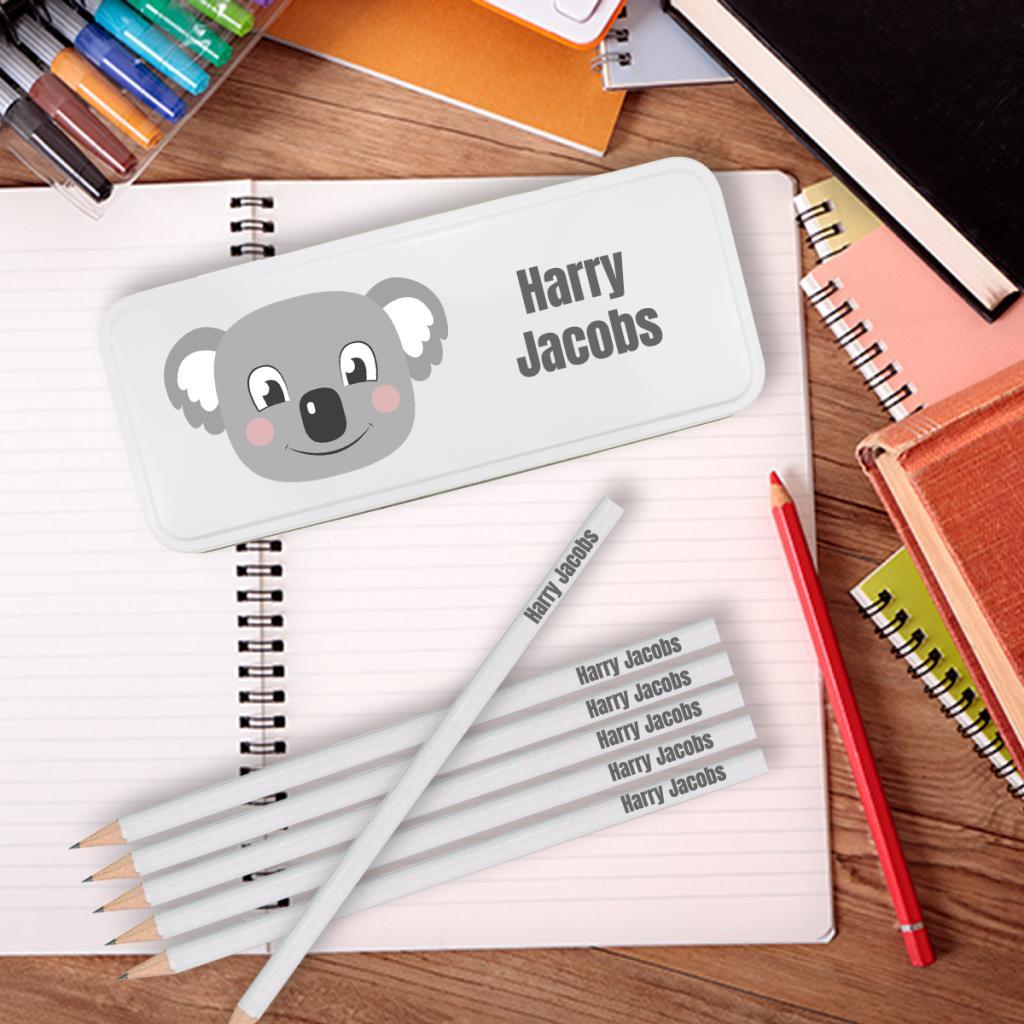 Koala Personalised Pencil Tin