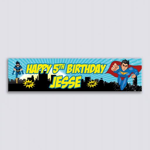Personalised Banner - Superhero