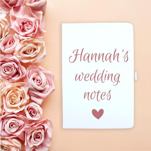 Notebook Heart Wedding Notes