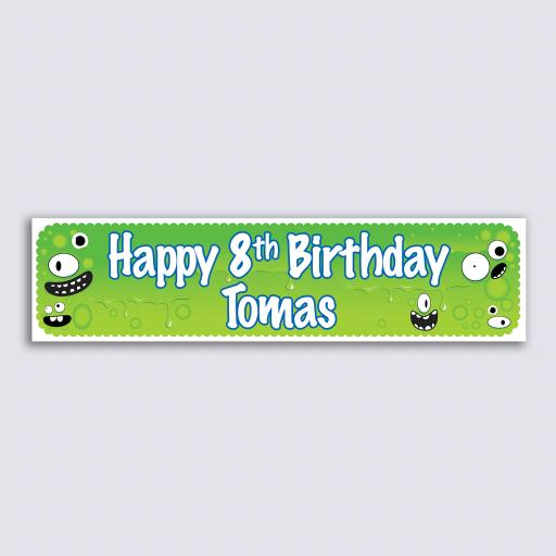Personalised Banner - Green Monster