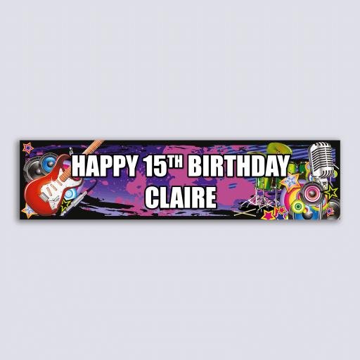 Personalised Banner - Rock Star