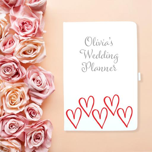 Notebook - Red Hearts Wedding