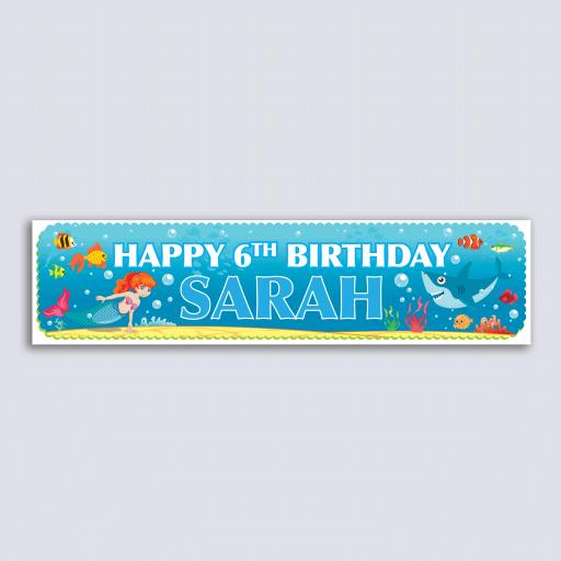 Personalised Banner - Mermaid