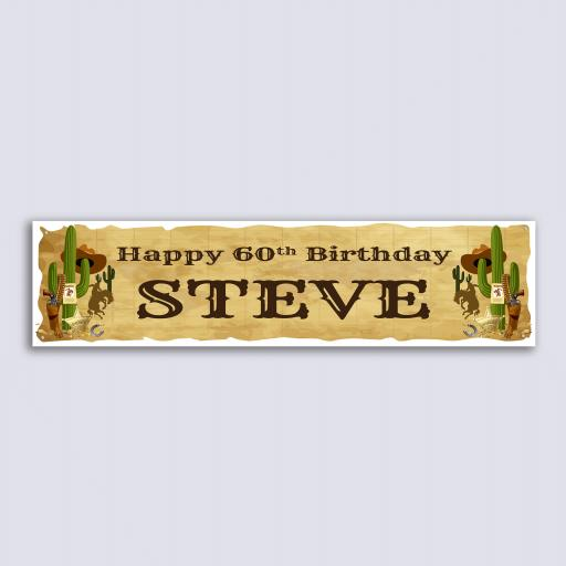 Personalised Banner - Wild West