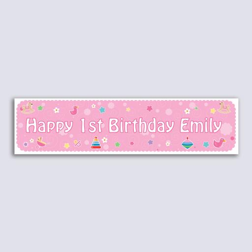 Personalised Banner - Baby Girl