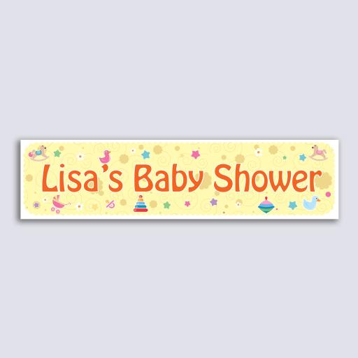 Personalised Banner - Baby Shower