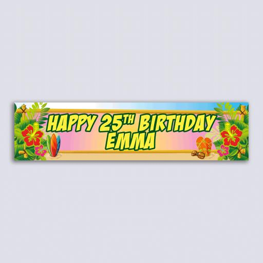Personalised Banner - Luau