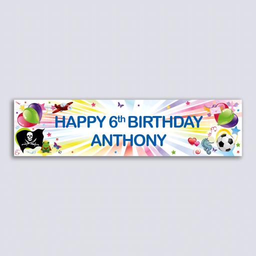 Personalised Banner - Starburst Kids