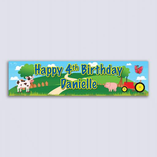 Personalised Banner - Farm