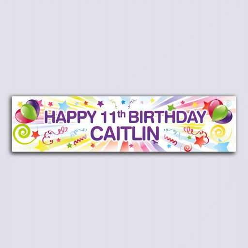 Personalised Banner - Starburst