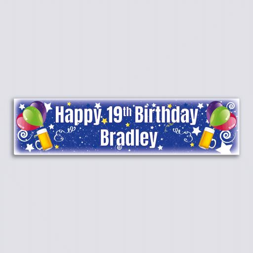 Personalised Banner - Beer & Balloons