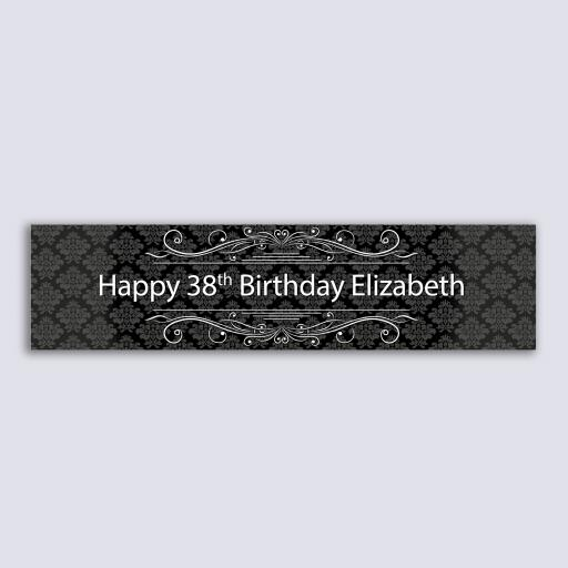 Personalised Banner - Black Swirls