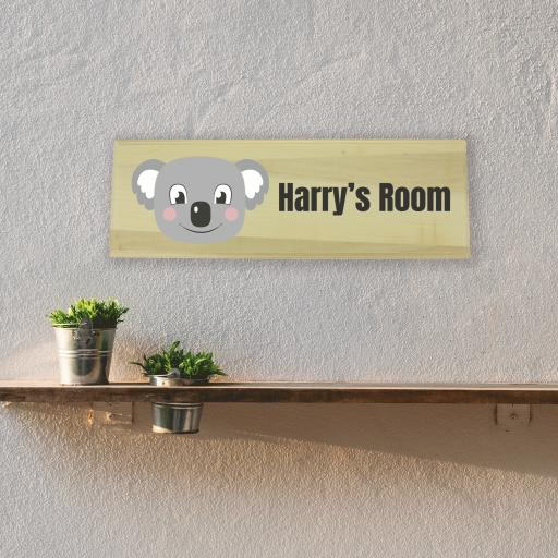 Koala Bedroom Wooden Sign