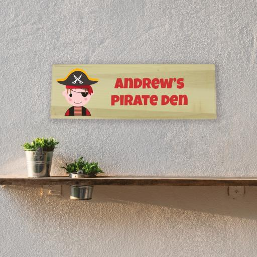 Pirate Bedroom Wooden Sign