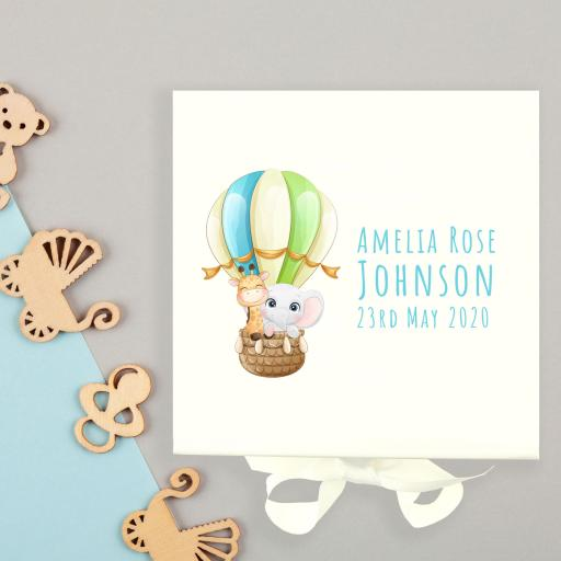 Hot Air Balloon Baby Keepsake Box