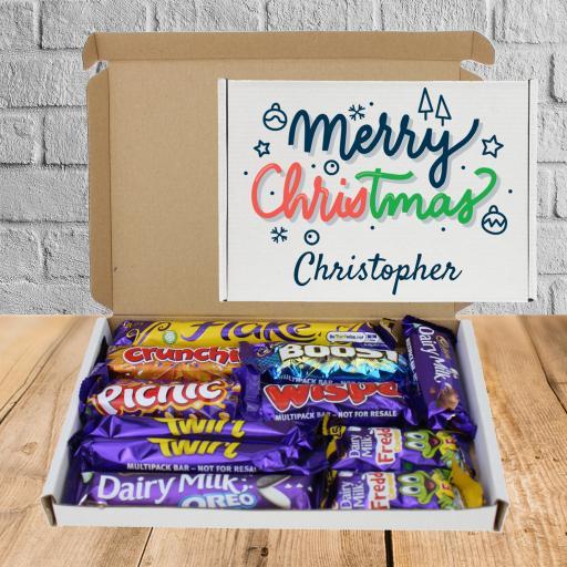 Send Cadburys Chocolate Merry Christmas Box