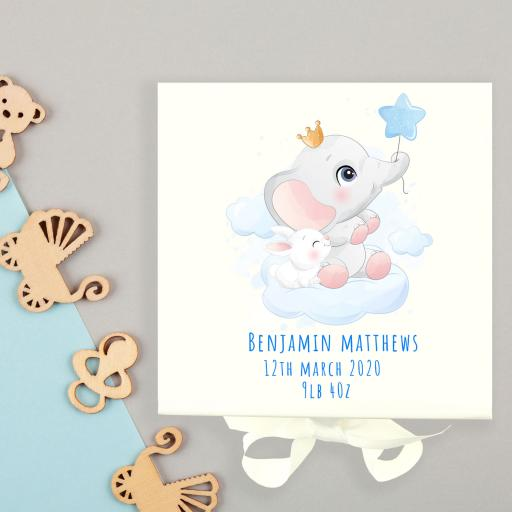 Elephant Baby Keepsake Box
