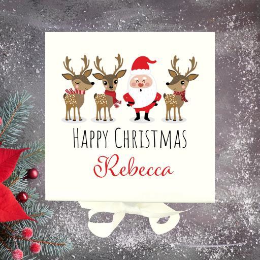 Christmas Box Santa & Reindeer