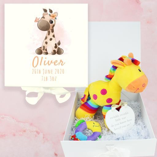 Giraffe Baby Keepsake Box Gift