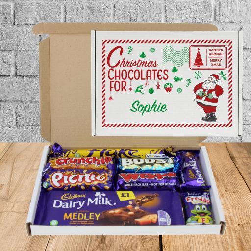 Send Cadburys Chocolate Red Green Box